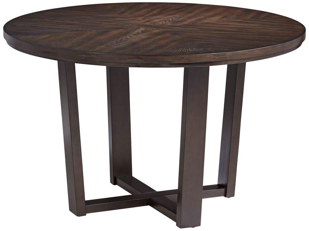 "Elm Lane Conrad 48"" Wide Dark Brown Wood Round Dining Table"