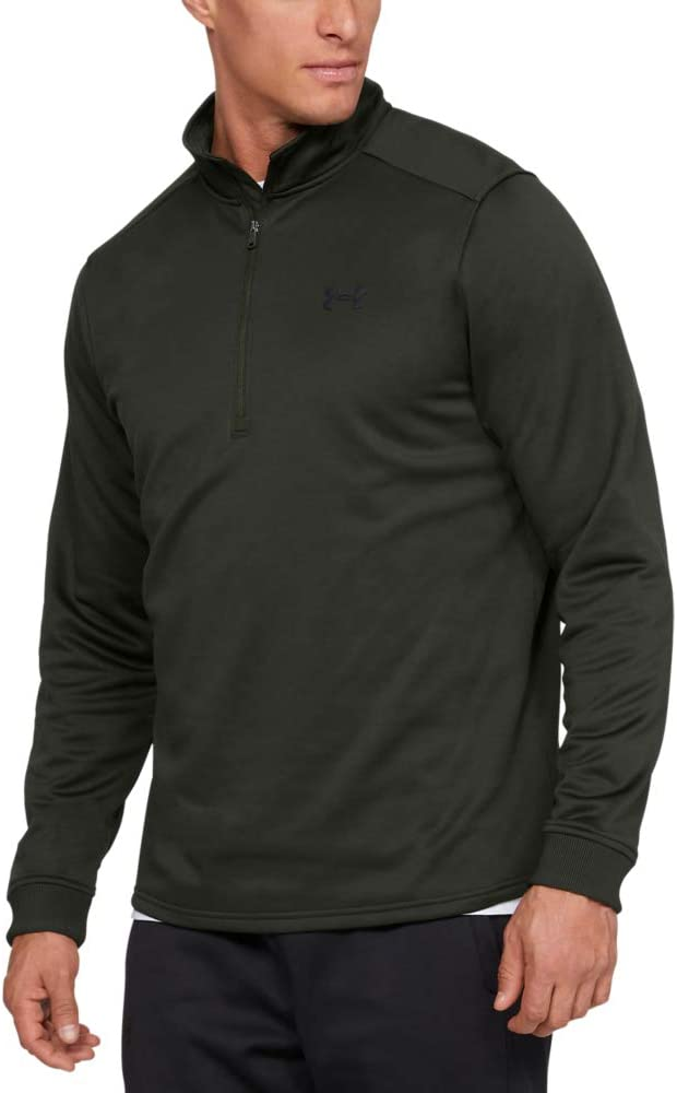 Under Armour Armour Fleece 1/2 Zip Camiseta De Manga Larga Con Media Cremallera, Hombre