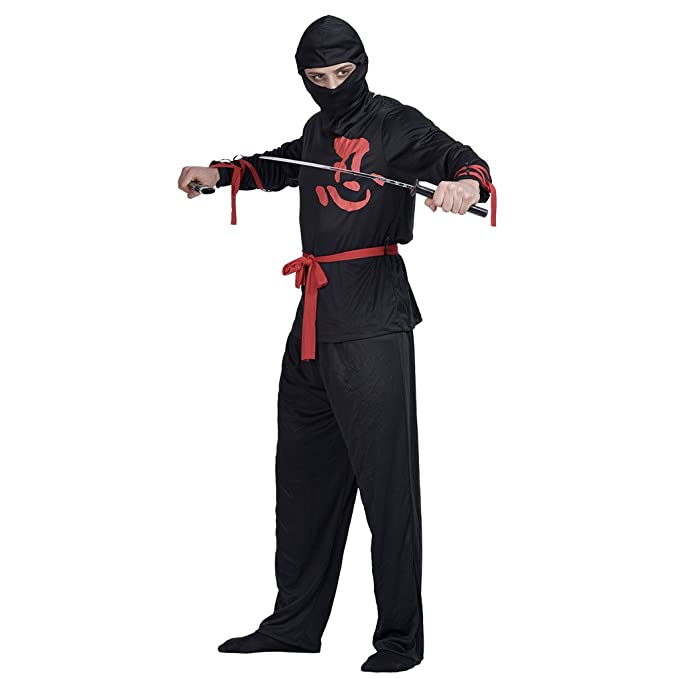 Amazon.com: EraSpooky Mens Halloween Ninja Costume Suit ...