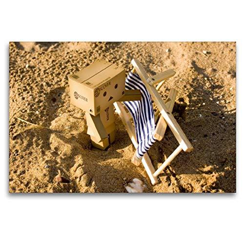 CALVENDO Toile Textile de qualité supérieure - 120 x 80 cm - Confortables à la Plage - Tableau sur châssis - Impression sur Toile véritable Spass