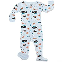 Leveret Shark Footed Pajama 100% Cotton (6-12 Months)