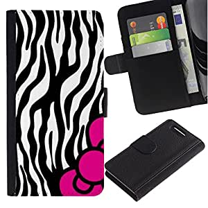 Planetar® Modelo colorido cuero carpeta tirón caso cubierta piel Holster Funda protección Para Sony Xperia Z1 Compact / Z1 Mini / D5503 ( Modelo de las rayas del rosa del arte arqueamiento)