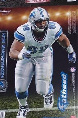 "Ndamukong Suh Fathead Detroit Lions NFL Wall Graphic 17"" x 10"""
