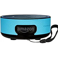 PASBUY 85D-1 Alexa Protective Case Cover Stand Guard Holder, Wall Mount for Amazon Echo Dot 2nd (Sky Blue)