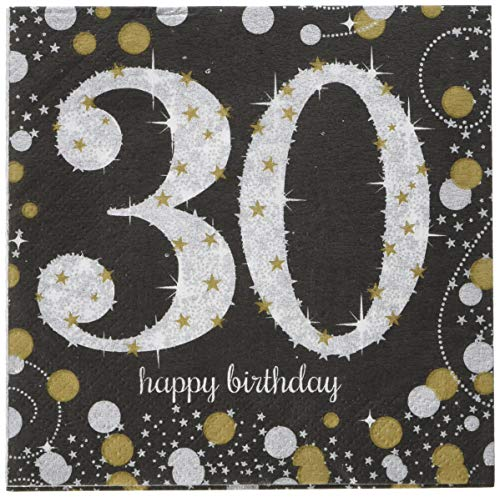 - Amscan 501544 Party Supplies Sparkling Celebration 30 Beverage Napkins One Size Multi Color