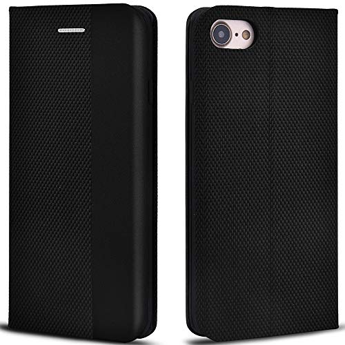 - Aicoco Folio Case for iPhone 7, Premium Leather Flip Phone Protective Case Cover for Apple iPhone 7 and iPhone 8 (Black)