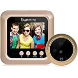 Digital Peephole Viewer,Doorbell Camera,JIDIMI 2.4 Inch Door Viewer Security Camera,160 Degree Night Vision Home Security-No APP-No PIR-Peephole Needed