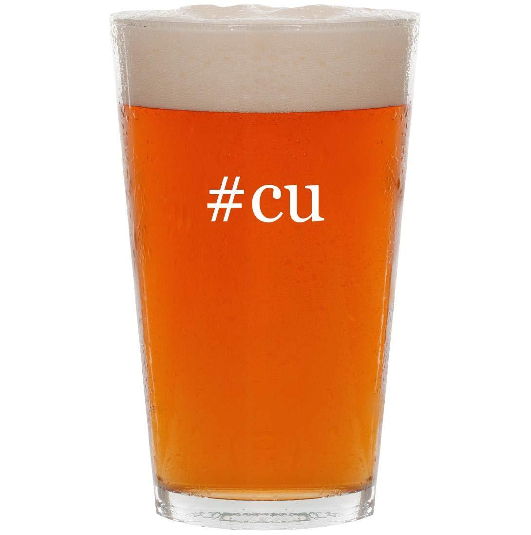 #cu - 16oz Hashtag Pint Beer Glass