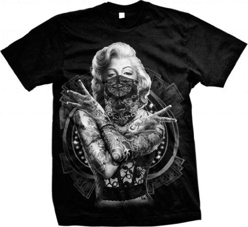 Outlaw Marilyn Monroe Men's T-shirt (Black, Large) -