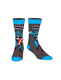 Marvel Comics Licensed Adult Crew Socks (Various Designs) (Captain America)