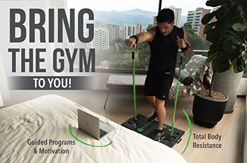 BodyBoss Home Gym 2.0 - Portable Gym Home Workout Package + Extra Set of Resistance Bands (4) - for Full Body Strength Training Workouts at Home or Anywhere You Take it (Green) by BodyBoss (Image #3)