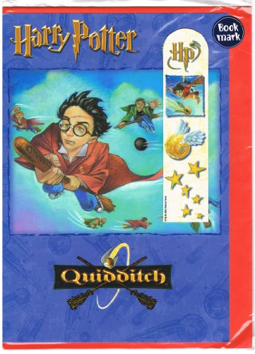 Harry Potter Quidditch Card with Bookmark Imported from UK