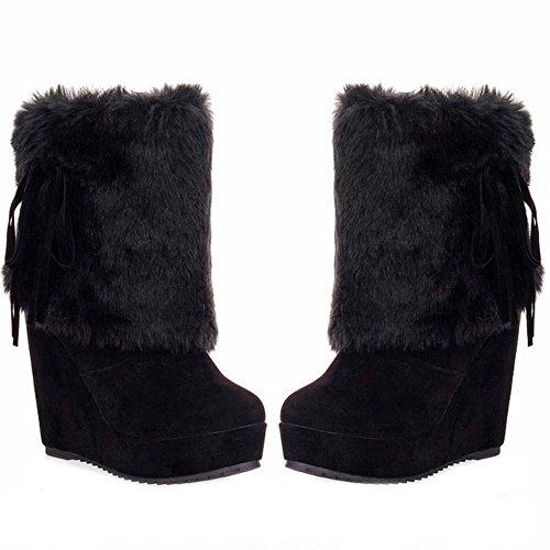 Black On Booties TAOFFEN Women's Boots Pull ngXwP1qp