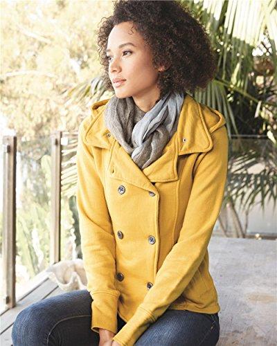Independent Trading Co. - Juniors' Premium Heavy Textured Fleece Pea Coat - PRM350PC