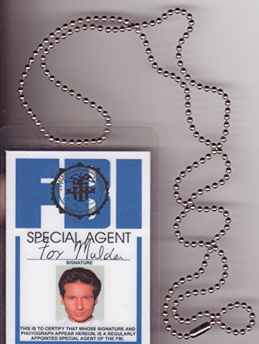 Mulder FBI Necklace Fun Fake ID License -