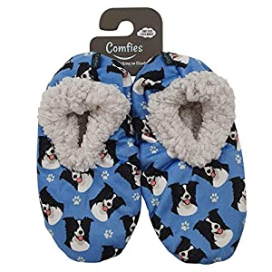 Border Collie Super Soft Womens Slippers - One Size Fits Most - Cozy House Slippers - Non Skid Bottom - perfect for Border Collie gifts 2