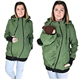 3in1 ALL WEATHER Softshell Babywearing jacket maternity coat BABY CARRIER KHAKI NP16 (S - US6)