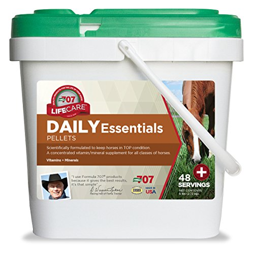 Formula 707 Daily Essentials Equine Supplement, 6lb Bucket - Complete Vitamins and Minerals for Superior Health and Condition in - Bucket 6 Lb