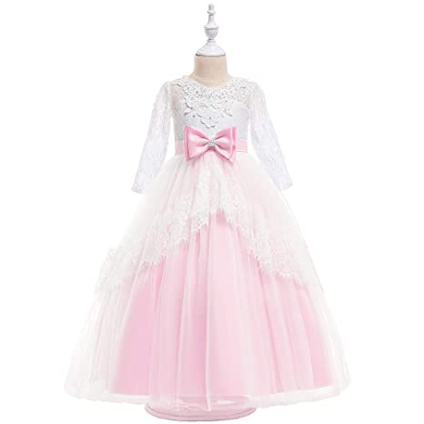Peggy Gu Vestido de niña Bautizo Boda Dama de Honor Vestido ...