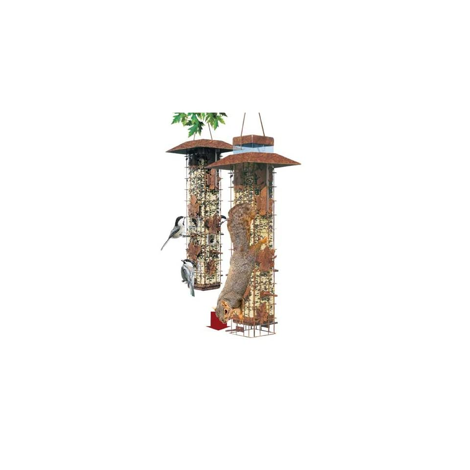 Pet Squirrel Be Gone Bird Feeder, Holds 3.4 Pounds, Six Feeding Ports