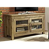 WE Furniture 44 Wood TV Media Stand Storage Console - Barnwood