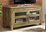 WE Furniture 44'' Wood TV Media Stand Storage Console - Barnwood