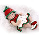 Nicery Reborn Baby Doll Hard Simulation Silicone Vinyl 10inch 26cm Waterproof Bathe Toy Gift White Green Red Girl Eyes Close
