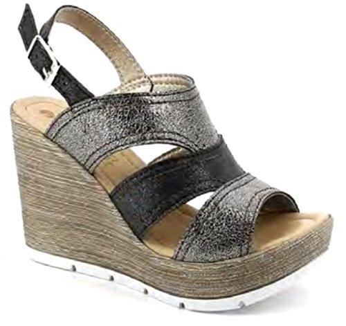 Sandales Noir Noir EU Femme Inblu 36 pour dnfqRd0a