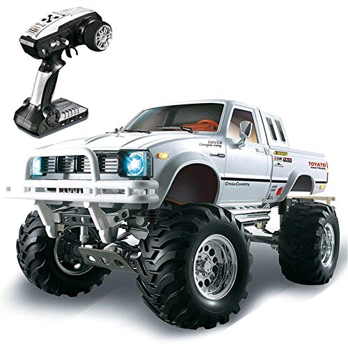 RONSHIN Rc Cars for Kids HG P407 1/10 2.4G 4WD Rally Rc Car for TOYATO Metal 4X4 Pickup Truck Rock Crawler RTR Toy White