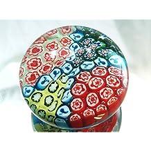 M Design Art Handcraft Glass Millefiori Paperweight PW-1105 [Kitchen]