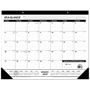 Amazon Com At A Glance 2019 Desk Calendar Desk Pad 21 3 4 X 17