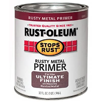 Rust-Oleum 7769502 Protective Enamel Paint Stops Rust, 32-Ounce, Flat Rusty Metal Primer