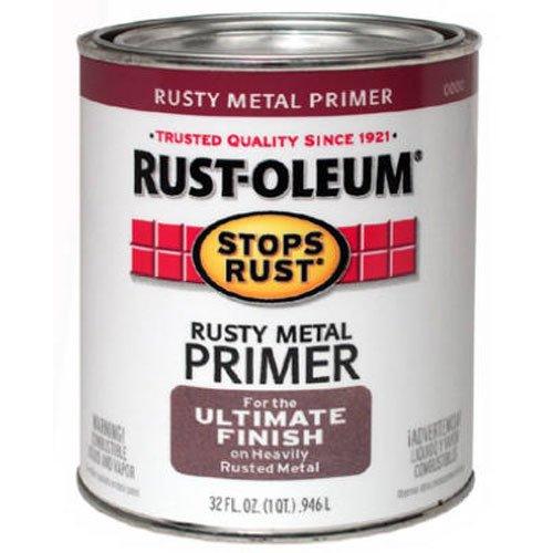 Rust Primer - Rust-Oleum 7769502 Protective Enamel Paint Stops Rust, 32-Ounce, Flat Rusty Metal Primer
