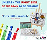 26-Piece Kids Canvas Painting Set - Arts and Crafts