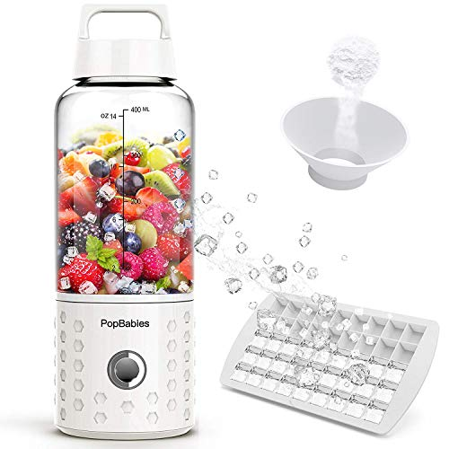 (PopBabies P1001W Portable Blender, small, white)