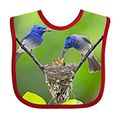 Animal Bird Nest Teething Bib Waterproof Sleeved Bibs For Babies -