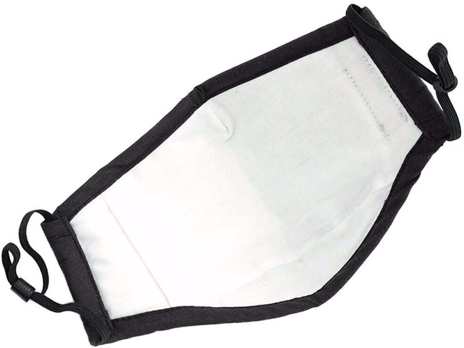 Maxpex 3Pcs Cara Bandanas Pa/ño de Tela de Algod/ón Negro con 6Pcs Filtros Lavable Reutilizable Durable A Prueba de Polvo Anti Haze para Actividades al Aire Libre con Banda Ajustable El/ástico Ear Loop