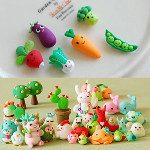 Maudre  24 Pieces Polymer Clay Colorful Oven Bake Craft Clay Includes Tools, Accessories and Tutorials for Kids (24 Colors with Tools and Box)