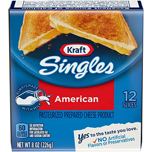 Kraft Singles American Cheese Slices, 12 ct ()
