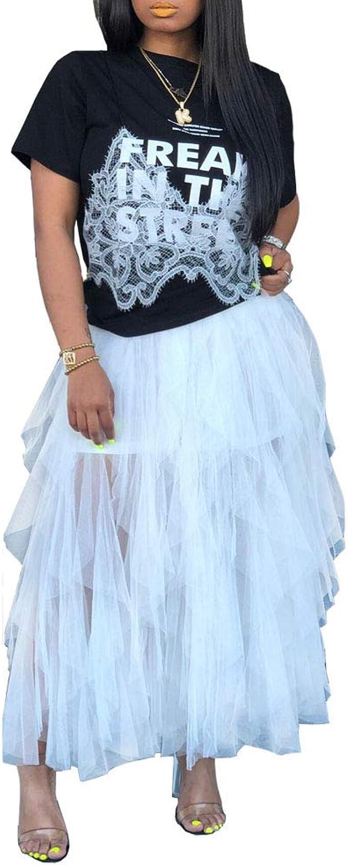 Falda Moda Mujer Elegante Wave Irregular Falda Tipo Torta ...
