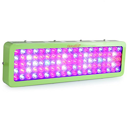 Global Star 600W LED Grow Light for Indoor Plants Growing Flowering Hydroponics Full Spectrum,100pcs×6W LED, 2 Switches