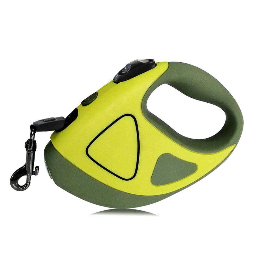 Hyena Walk with Light Retractable Automatic Traction Rope, 3 Meters Green