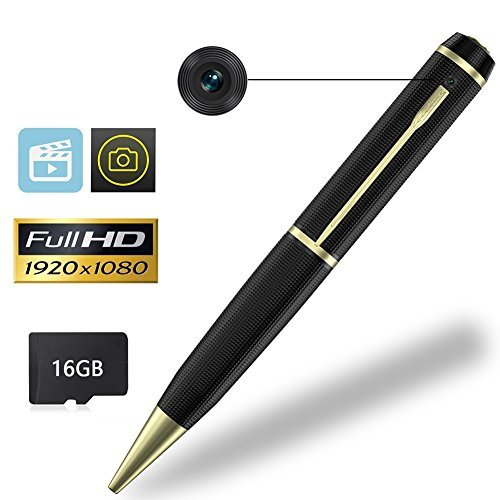 pretty nice e814c 81a40 YASSUN Spy Pen Camera,16GB 1080P Full HD Mini Hidden Cam with Video and  Photo Recorder Dvr