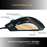 Gaming-Mouse-Pecosso-Precision-Optical-Mouse-Esport-Computer-Mice-6-Buttons-3200-Adjustable-DPI-4-Levels-LED-Mobile-Mouse-Usb-Wired-Mouse-Comfortable-Grip-for-LaptopPCComputerMacbook-Black