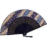 [Chinese & Japanese] Retro Silk Hand Fan Portable Folding Fan Handheld Fan NO.21