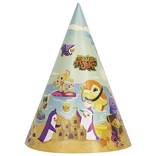 Unique Industries Animal Jam Party Supplies Party Hats (8) ()