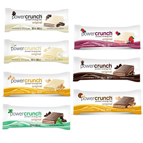 Power Crunch Original High Protein Energy Bar All Flavors Variety Pack (7 Bars) Power Crunch Berry Creme