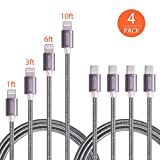 USB C to Lightning Cable, Ofspower 4 Pack Nylon Braided USB Type C to 8 Pin Syncing Charging Cord for iPhone X/8/7 (1ft 3ft 6ft 10ft)