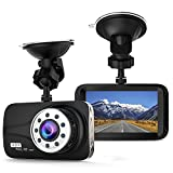 """Photo : Ectreme Car Dash Cam - Full HD 1080P Dash Cam 170° Wide Angle 3"""" LCD In Car Dashboard Camera DVR Video Recorder with G-Sensor, WDR & Night Vision, Motion Detection (black)"""
