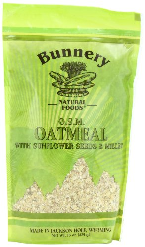 Bunnery Natural Foods Oatmeal, 15-Ounce Bags (Pack of ()